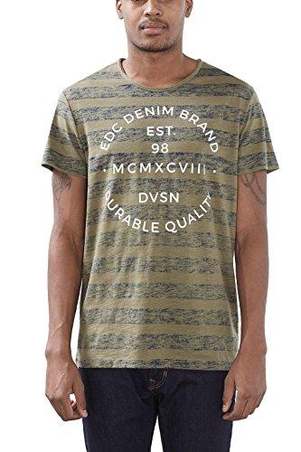 edc by ESPRIT Herren T-Shirt Grün (Khaki Green 350)