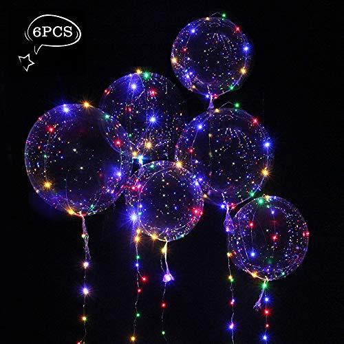 Thinkcase 6 Stück Helium Balloon Gas Leucht Luftballon Weiss Zuhause Dekoration Zum Party Hochzeit Weihnachten Festival