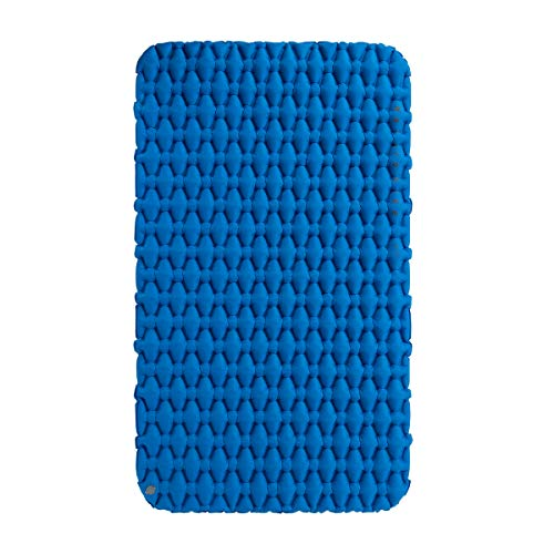 Factory Naturehike Ligero colchón de Aire a Prueba de Humedad Nylon TPU Almohadilla para Dormir Colchoneta Inflable Colchoneta de Camping para 2Personal NH19Z055-P (Blue)
