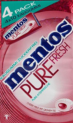 Fresh Mint Kaugummi (Mentos Kaugummi Pure Fresh Cherry Mint Fliptoxbox, 3er Pack 3er Pack (3x60g))