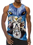 Goodstoworld Hombre Tirantes 3D Animal Camisetas sin Manga Impresión Divertido Camiseta Funny Fitness Gimnasio Tank Top for Men M