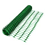 True Products B1001F Free Delivery Plastic Mesh Barrier Safety Fence Netting Standard-50m Roll, Green, Standard