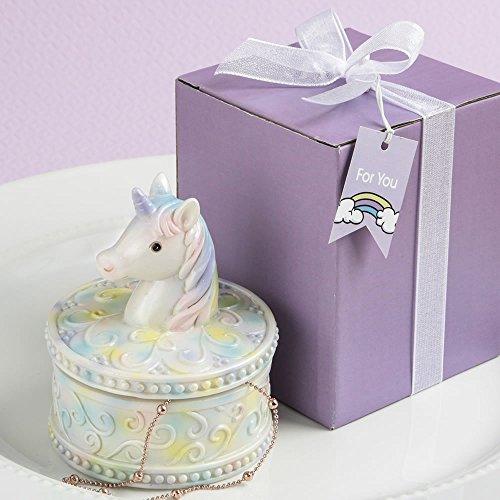 SOLEFAVORS Ravissant Licorne Boîte à Bijoux Cadeau Design