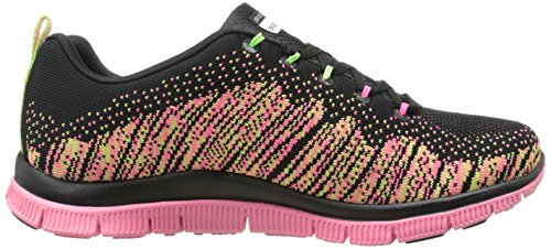 Skechers  Flex Appeal Talent Flair,  Scarpe sportive indoor donna Black/Multi Textile/Trim