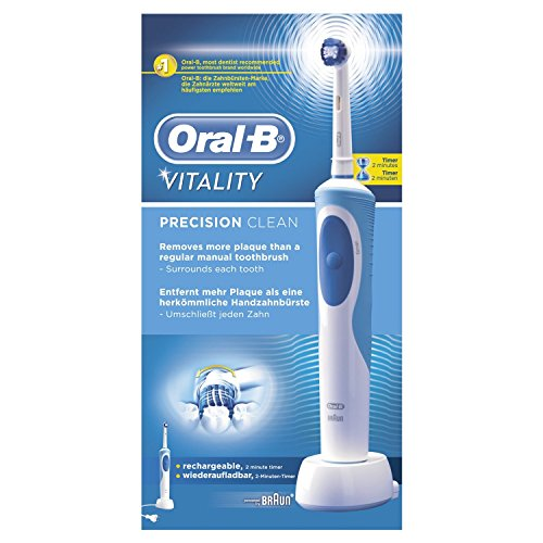 Oral-B Vitality Cross Action - Cepillo de dientes eléctrico recargable, con 7.600...