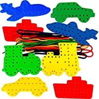 Amazing Arts and Crafts Transport Lacing Shapes set of 8