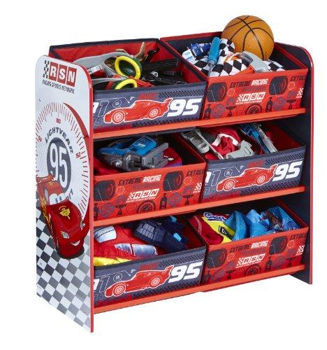 Cars 471CAP - Unidad de almacenamiento para niños, color rojo