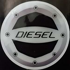 Leebo Reflective Black Diesel Inside Decal / Sticker Fuel Lid For Tata Nano
