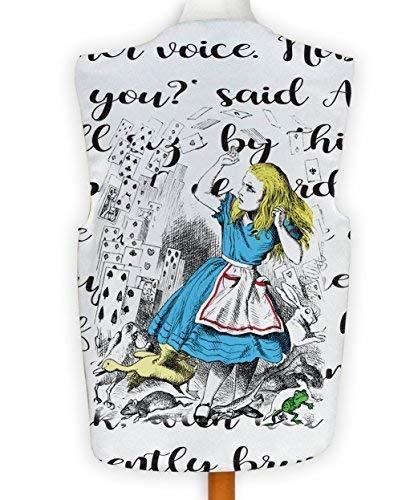 NEUHEIT Weste Kostüm Spass Legere Alice im Wunderland Spielkarten - Mehrfarbig, XL