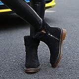 Botas para Mujer Zapatillas De Senderismo para Mujer Botas De Cuero De Otoño E Invierno Botas De Cuero De Mujer En El Tubo Botas De Nieve Botas Gruesas De Martin @ 43