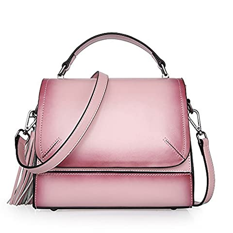 Sheli Pink Flap Crossbody Top Handle Leather Tote Organizer pour Femme
