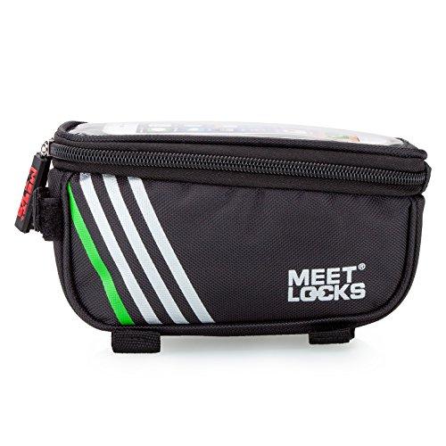 """Fahrradtsche, Rahmentasche, Fahrrad Rahmentasche, Farhradlenkertasche, geeignet für Handy mit Größe unten 5,7"""" Schwarz"""