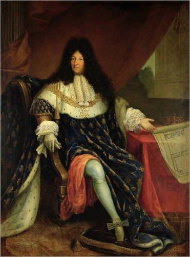 Posterlounge Alu Dibond 120 x 160 cm: Ludwig XIV. von French School/Bridgeman Images