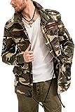 trueprodigy Casual Hombre marca Chaqueta militar ropa retro vintage rock vestir moda camuflaje deportivo slim fit designer cool urban fashion aviador jacket parka color verde 3573108-0629-XXL