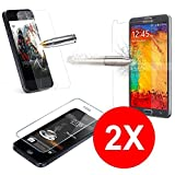 TBOC 2X Hartglas Schutzfolie für LG G4 Stylus (Zwei Einheiten) Panzerglas Displayschutz in Kristallklar 9H Display Schutzglas 0.3mm in Premiumqualität Glas Folie Tempered Glass