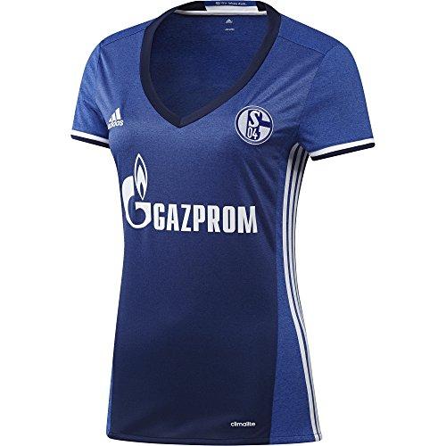 adidas Damen Schalke 04 Trikot, Bold Blue/White, XS