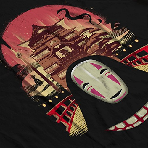 Spirited Away Welcome To The Magical Bath House No Face Women's Vest Black