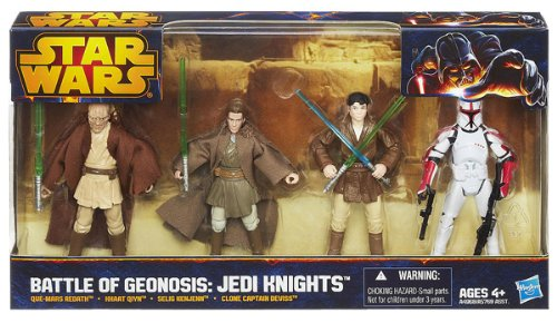 Star Wars Figuren Set Battle of Geonosis - Jedi´s - Que Mars Redath - Khaat Qiyn -Selig Kenjenn - Clone Captian Deviss (Star Wars Anikan)