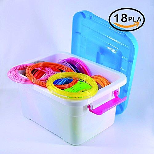 3D Stylo Fils Filament PLA NanHong filament stylo 3d,Boîte de rangement Kit 1.75mm PLA Filament 6 lueur dans les couleurs sombres 3D Dessin Ink Filamen