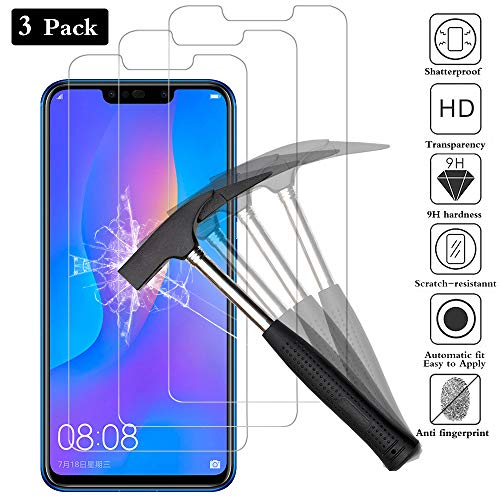 ANEWSIR Panzerglas Displayschutzfolie für Huawei P smart Plus/P smart + [3 Stück], P smart Plus/P smart + Schutzfolie Tempered Glass Screen Protector Panzerglasfolie, 9H Härte, Anti-Bläschen