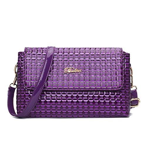 ZPFME Schultertaschen Party Retro Bankett Mode Umhängetasche Kragen Mädchen Tasche Geschenk Purple