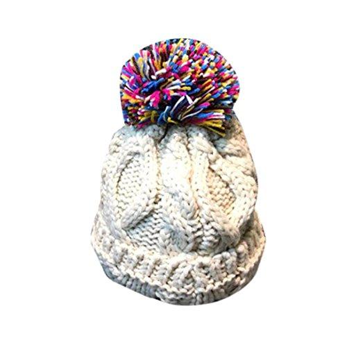 Babybekleidung Hüte & Mützen Longra Baby Kleinkind Kinder Elastizität Slouchy Beanie Hip Hop Cap Mützen stricken Hüte (2-8 Jahre) (White) (Niedliche Hip Hop Kostüme)