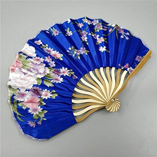 ZGDPLZS Abanico Plegable 110 Piezas Personalizadas/Personalizadas de bambú Flores de poliéster Que...