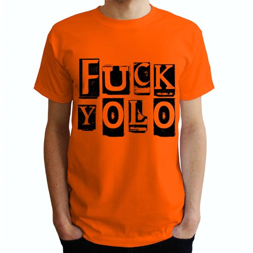 Fuck yolo Herren T-Shirt Orange
