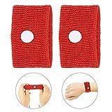 Bracelet anti-dégoûtant, Bracelet de voyage en avion, 5 couleurs pour le mal des transports/le mal de mer/les nausées matinales(rouge)