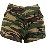 Amakando Shorts Tarnfarben Camouflage Hot Pants L/XL 42 – 48 Camo Hotpants Panty Army Look Party Outfit Military Style Kurze Hose Tarnmuster