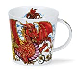 DUNOON Bone China Becher mythicos Fabelwesen Becher Cairngorm hergestellt in England (Drachen)