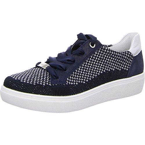 ara Damen New York Sneaker Blau (Blau-Silber, 06)
