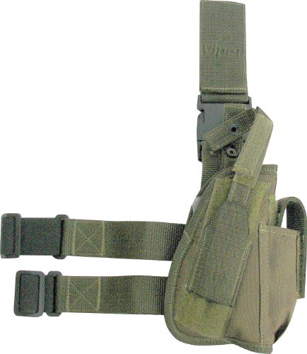 Viper Right Handed Tactical Drop Leg Holster For Pistols Airsoft Green Gas