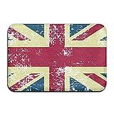 YYUTR - Felpudo de Bienvenida con diseño de Bandera británica, Estilo Vintage, 40 x 60 cm, Caucho, British Flag-vintage1, 16x24(IN)/40x60 CM