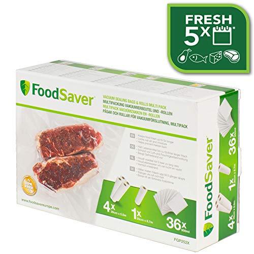 Foodsaver FGP252X Verbrauchsmaterial Vakuumdichtung Taschen Combo Pack / sous-Vide (Vakuum-pack-maschine)