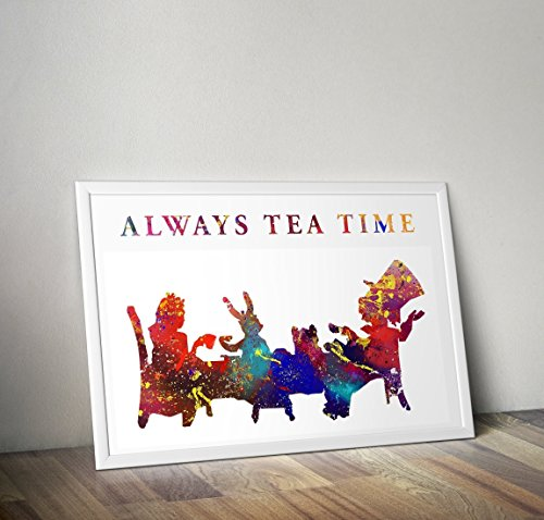 Alice im Wunderland inspirierte Aquarell Poster - Zitat - Alternative TV/Movie Prints in verschiedenen Größen (Rahmen nicht im Lieferumfang enthalten)