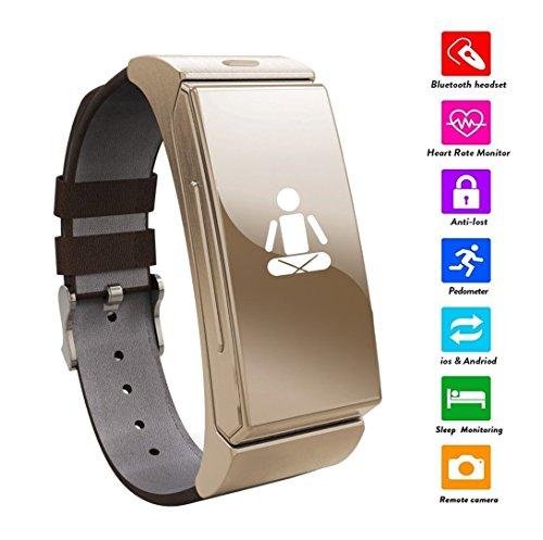 Jiazy Aktivitätstracker mit Pulsmesser Bluetooth Fitness Armband Tracker Smart Armband mit Schrittzähler / Schlafanalyse / Kalorienzähler / Fitness Tracker für Android und IOS