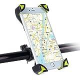 Handyhalterung Fahrrad, SKYEE Universal Fahrradhalterung Einklemmen an den vier Ecken mit 360 Grad drehbare Fahrrad Verstellbar Motorrad Lenker Handyhalter Halter für iPhone 7/7 Plus, iPhone 6, Samsung S8/S7 und Andere GPS Geräte - Grün/Schwarz
