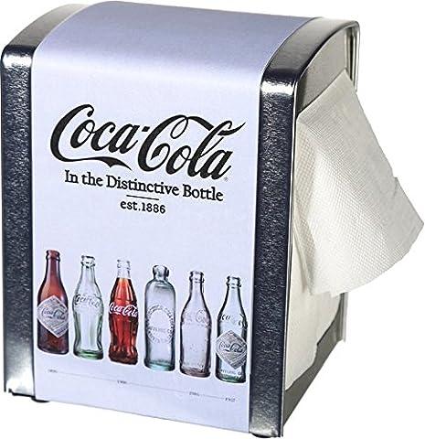 Distributeur de serviettes Coca Cola» est. 1886«env. 14–10cm + 100serviettes