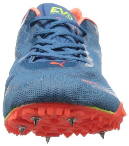 Puma Evospeed Harambee piste Chaussures Metallic Blue/Fluorescent Peach/Fluorescent Yellow