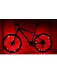 prosensor® Imperméable à LED pour roue de vélo Lumière Bord LED Mountain Bike LED Sécurité rayons de roue 20LED lumineux lampe rgb 2.2m GUIRLANDE fil Lampe–Bleu Vert Rouge Rose Blanc