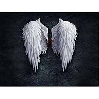 Greatest Yinew Angel Wings Painting White Art Artwork Wall Decor Modern Oil  UE82