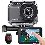 AKASO Action Cam 4K/60fps/Action Camera 20MP WiFi met touchscreen EIS 40M onderwater camera V50 Elite met 8X Zoom Spraakbediening Afstandsbediening Accessoires Kit Sportcamera, V50 Pro., V50 Pro
