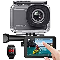 AKASO V50Pro 4K 30fps 20MP WiFi Action Camera with EIS Touch Screen Adjustable View Angle 30m Waterproof Camera Support External Mic Remote Control Sports Camera