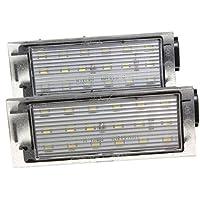 AUDEW Luces de matrícula LED color blanco, 12V