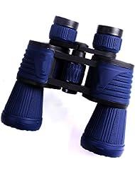 LQABW Nueva 10x50 Prismáticos De Alta Potencia De Alta Definición Para No Noche Telescopio De Mano Visión,Blue