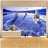 Qwerlp Benutzerdefinierte Tapete 3D Zimmer Tapete Vlies Bild Eisbären Auf Den Gletschern Malerei Foto 3D Wandbilder Tapete-150Cmx120Cm