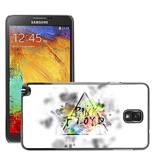 Premium Slim Polycarbonate Aluminium Cassa del telefono Custodia Case Bandiera Cover Armor // M00048448 aero white floyd pink // Samsung Galaxy NOTE 3
