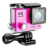 Woxter Sportcam 4K - Cámara deportiva (action cam, accesorios incluidos) color rosa