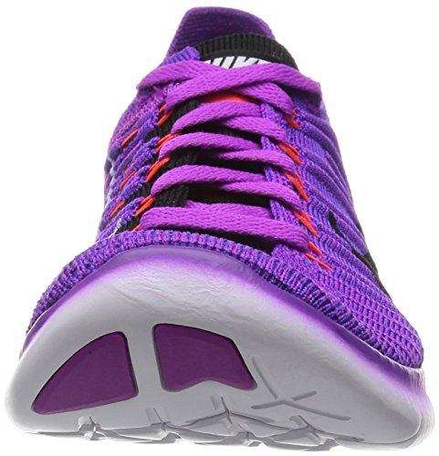 Nike Damen Wmns Free Rn Flyknit Laufschuhe Blau (Hypr Vlt / Blk-Ttl Crmsn-Lsr Orn)
